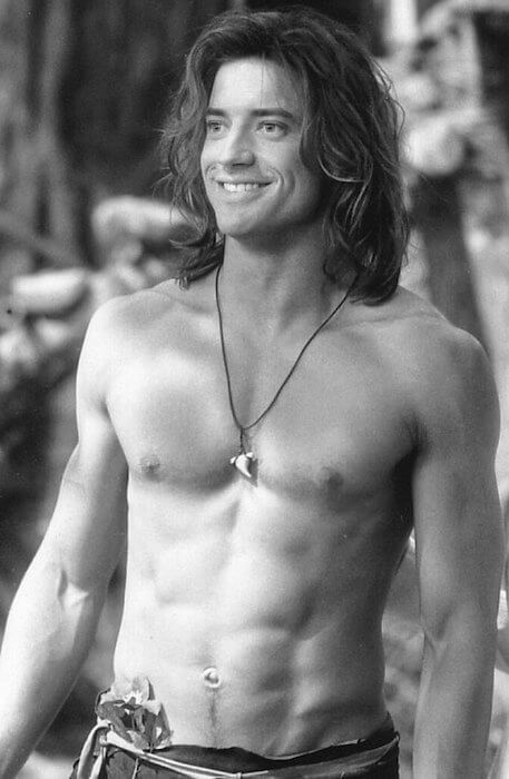 """Brendan Fraser in one of the scenes in """"George of the Jungle"""" (1997)"""