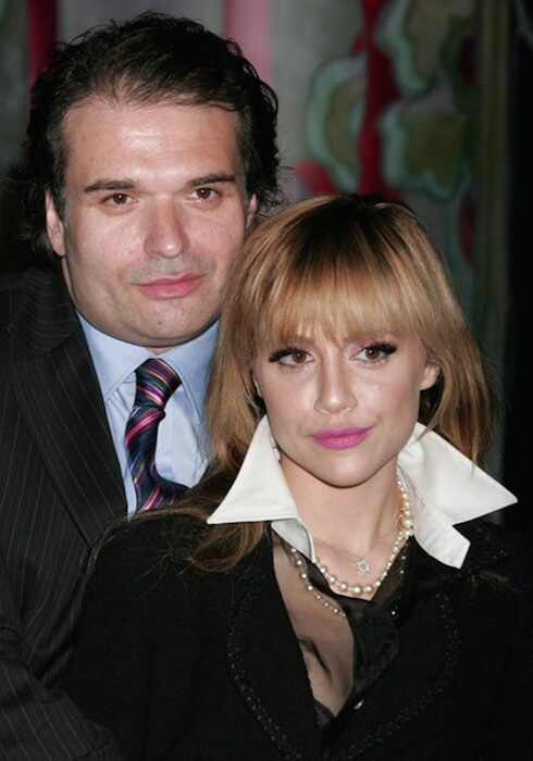Brittany Murphy and husband Simon Monjack (when alive) attended the Prada Los Angeles screening of 'Trembled Blossoms' at Prada on March 19, 2008