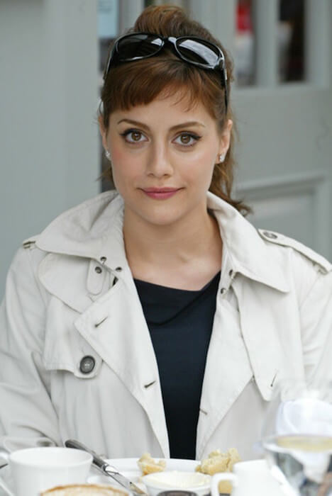Brittany Murphy during a casual tea session in Los Angeles