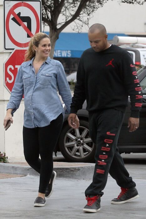 Cacee Cobb with her husband Donald Faison