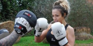 Charlotte Crosby boxing workout