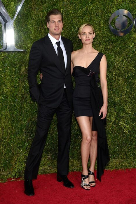 Ex-husband Christian McCaw and Amber Valletta at the 2015 Tony Awards at Radio City Music Hall on June 7, 2015 in New York City