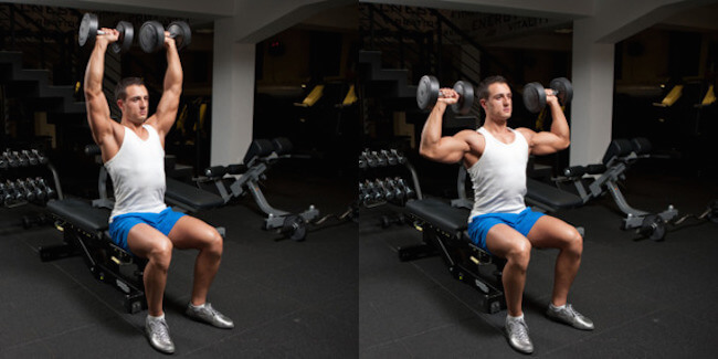 Do Seated and Standing Press