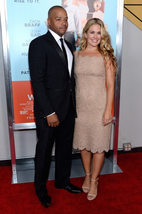 "Donald Faison and Cacee Cobb attend the ""Wish I Was Here"" screening at AMC Lincoln Square Theater in 2014"