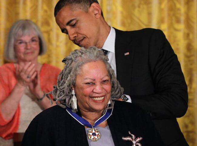 Dr. Toni Morrison receiving The Presidential Medal Of Freedom from President Barack Obama on May 29, 2012 at Washington, D.C.