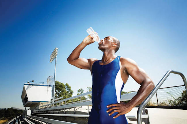 Drinking water prevents cramps