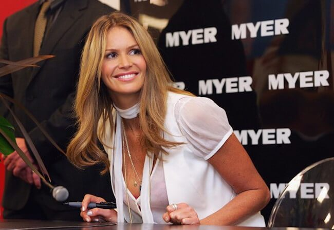 Elle Macpherson attends the launch of her new lingerie range, the Intimates Boudoir Collection, at Myer Brisbane City on April 13, 2007 in Brisbane, Australia