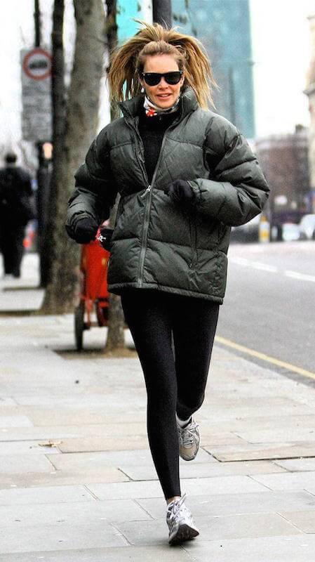 Elle Macpherson running