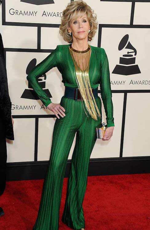 Jane Fonda at Grammy Awards 2015 looking slim