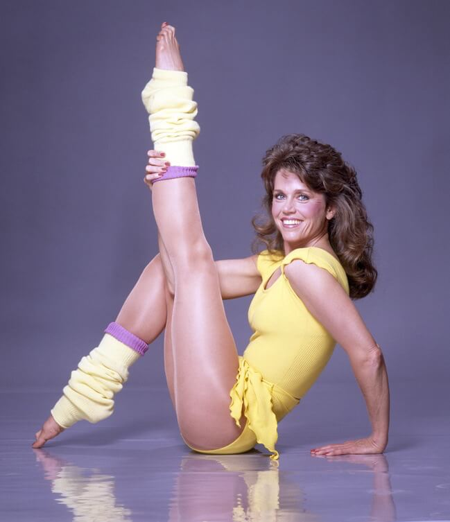Another still from Jane Fonda's Workout DVD, which she released many years back.
