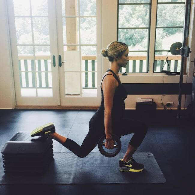 Kristin Cavallari in gym with baby bump, the third time