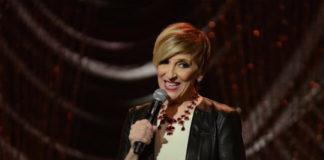 Lisa Lampanelli giving stage performance