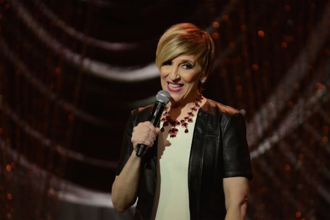 Lisa Lampanelli giving stage performance