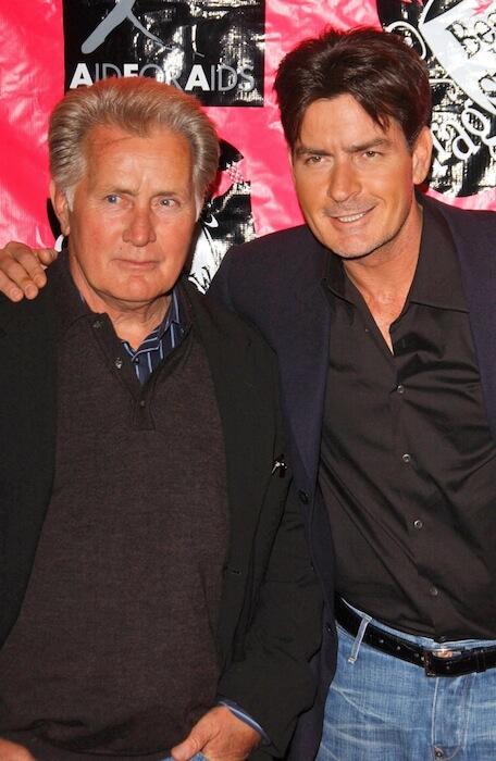Martin Sheen and Charlie Sheen