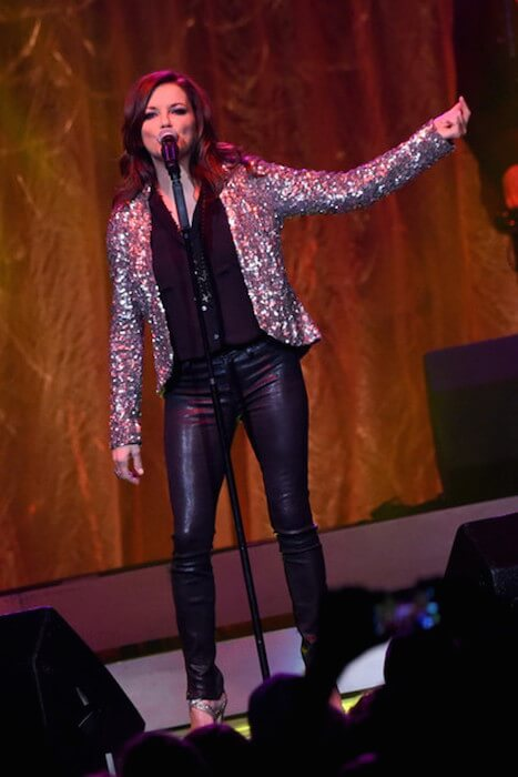 Martina McBride performs at St. Jude Country Music Marathon & Half Marathon sponsored by Toyota at Bridgestone Arena on April 25, 2015 in Nashville, Tennessee