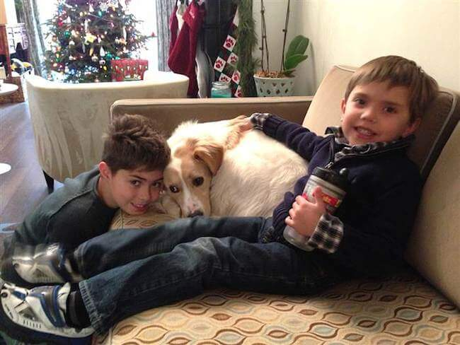 Natalie Morales' two kids and dog