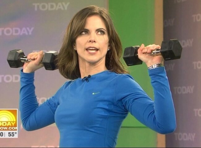 Natalie Morales dumbbell workout