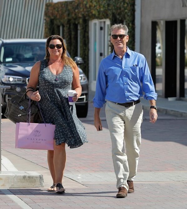 Pierce Brosnan and Keely Shaye Smith in Malibu