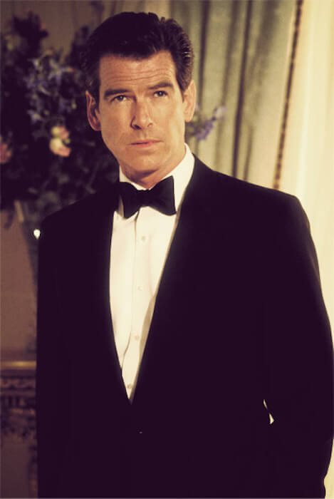 "Pierce Brosnan as James Bond in ""The World Is Not Enough"""