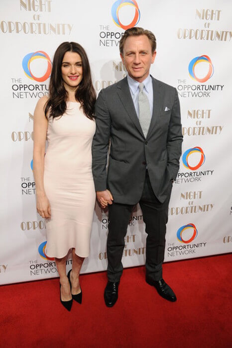 Rachel Weisz and husband Daniel Craig at the The Opportunity Network's 7th Annual 'Night of Opportunity' at Cipriani Wall Street on April 7, 2014 in New York City