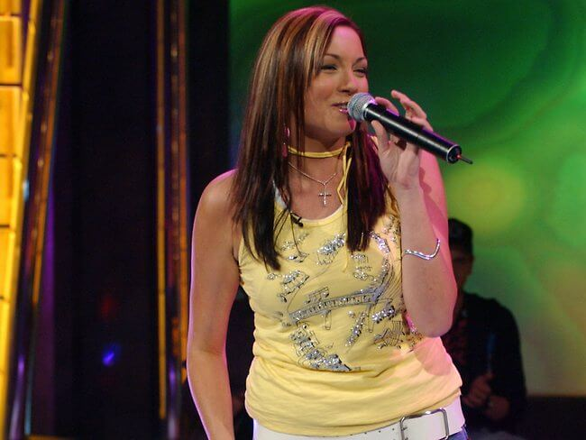 Ricki-Lee Coulter in the 2004 Australian Idol finals before her health habits changed