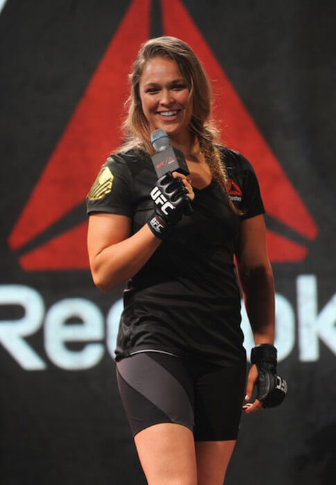 Champion Ronda Rousey attends the 'Launch Of The Reebok UFC Fight Kit' at Skylight Modern on June 30, 2015 in New York City