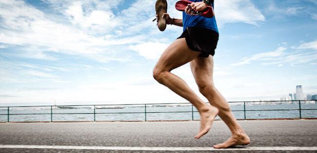 Running barefoot is better