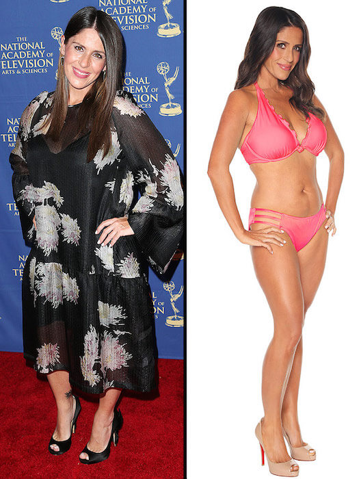Soleil Moon Frye in June 2014 (Left) and after shedding weight in March 2015 (Right)