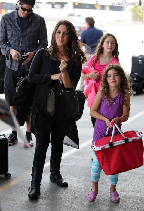 Soleil Moon Frye with her husband Jason Goldberg and daughters Jagger (Front) and Poet (Back)