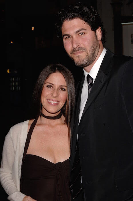 "Soleil Moon Frye with producer husband Jason Goldberg at ""Guess Who"" premiere at the Grauman's Chinese Theatre in Los Angeles in 2005"