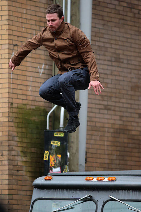 Stephen Amell stunts