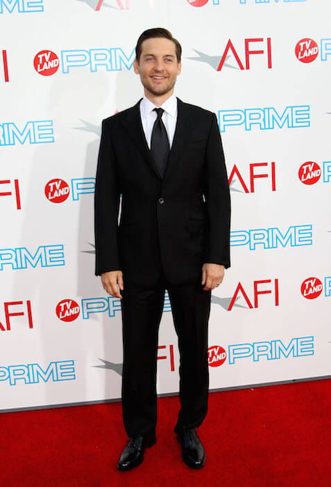 Tobey Maguire at the AFI Lifetime Achievement Award Ceremony in 2009