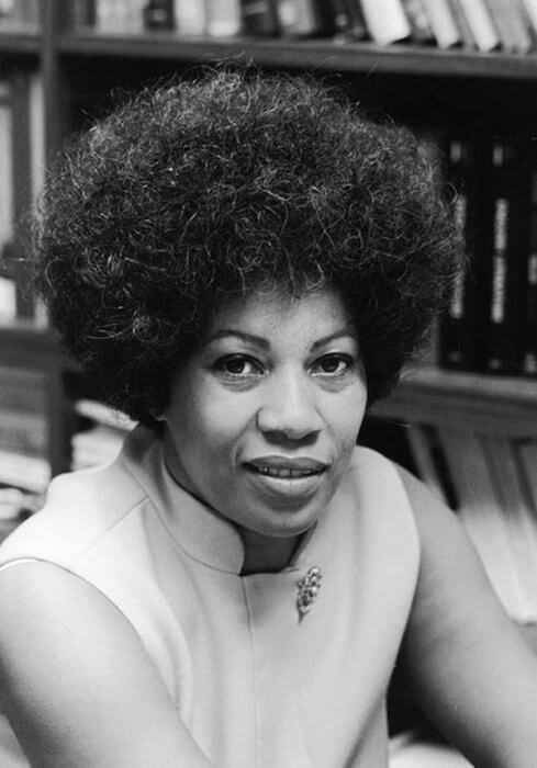 Toni Morrison in 1970 when she worked as an editor at Random House and published 'The Bluest Eye'