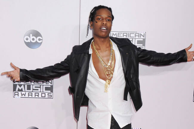 ASAP Rocky attends the 2015 American Music Awards
