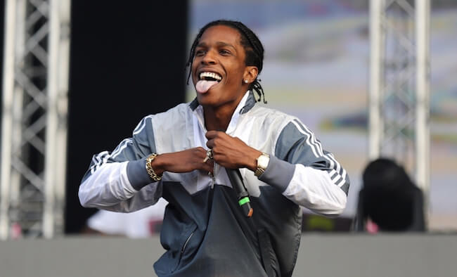 ASAP Rocky doing rap at the 2015 Wireless Festival in London