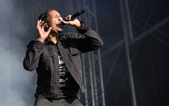ASAP Rocky performing at the Bravalla Festival in Sweden in 2015