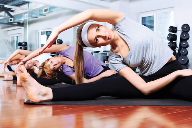 An ongoing fitness class: She is not Louise Parker