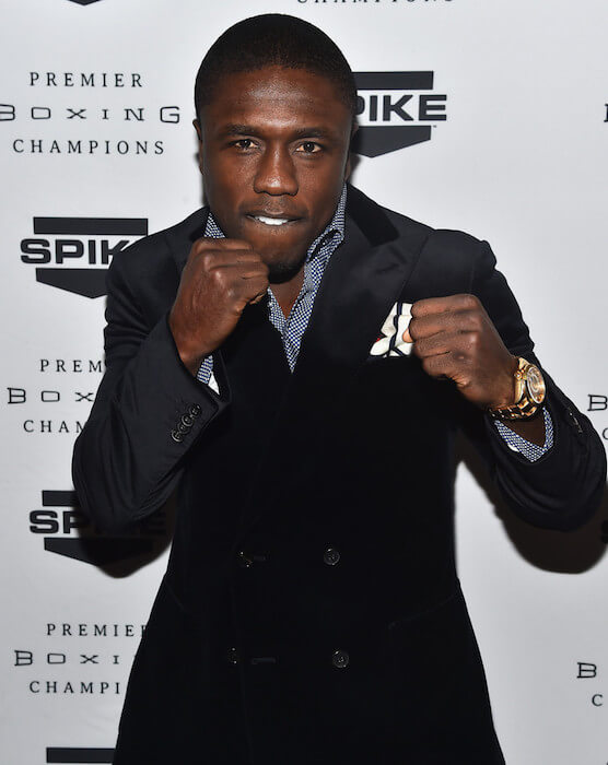 Andre Berto made a guest appearance on Spike TV's Premier Boxing Champions (a new boxing series) on January 22, 2015 in California