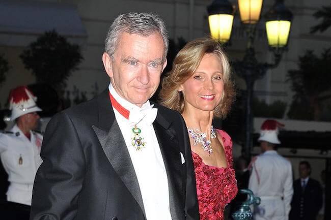 Bernard Arnault and Hélène Mercier