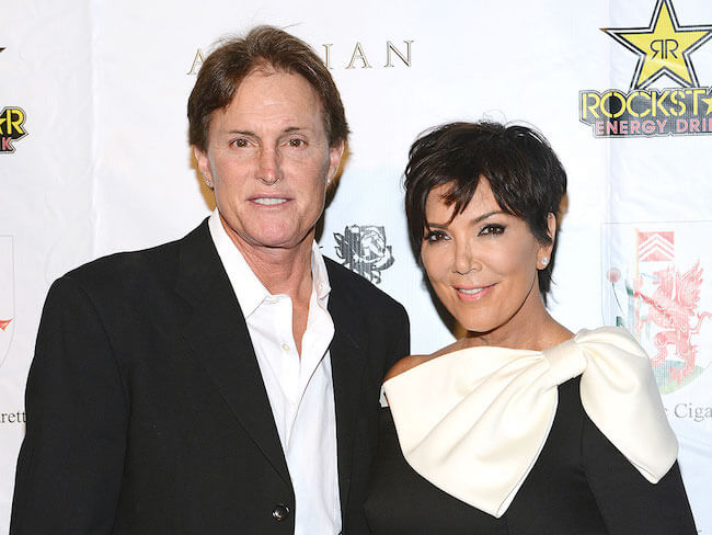 Bruce Jenner and Kris Jenner before their divorce