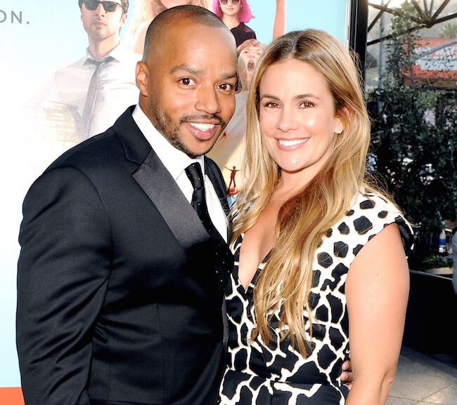 Cacee Cobb with her husband Donald Faison at an event