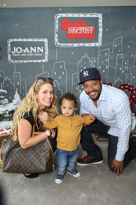 Cacee Cobb with husband Donald Faison and son Rocco