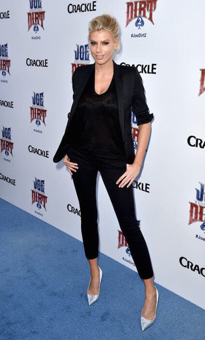 Actress Charlotte McKinney arrives at the premiere of Crackle's 'Joe Dirt 2: Beautiful Loser' at Sony Studios on June 24, 2015 in Culver City, California