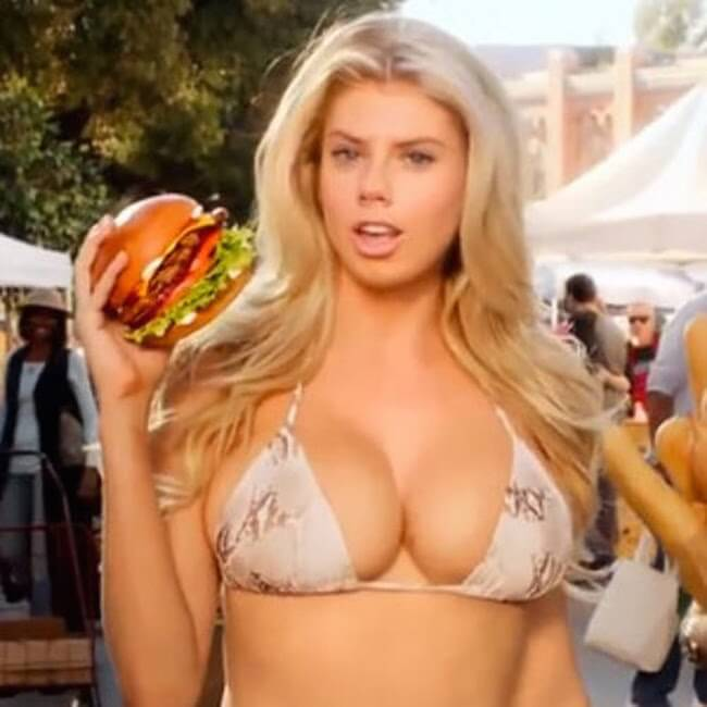 Charlotte Mckinney in a still from Carl's Jr ad