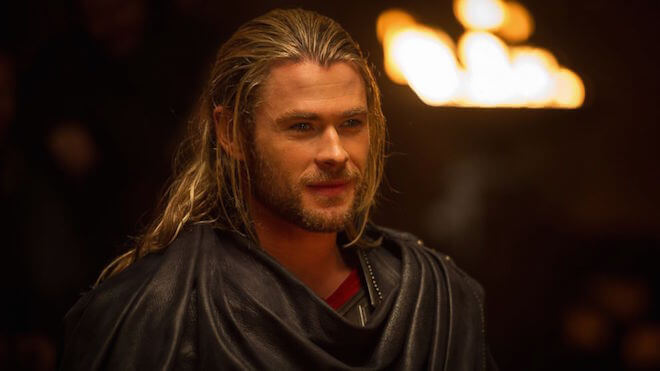 "Chris Hemsworth in a still from ""Thor"""