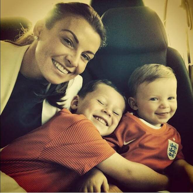 Coleen Rooney with her two sons