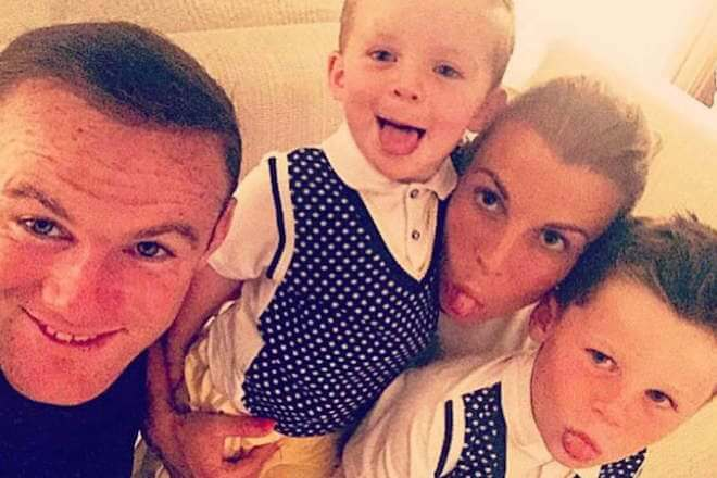Coleen and Wayne Rooney with their two sons