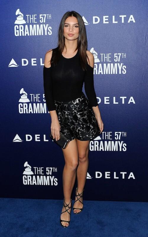 Emily Ratajkowski during Grammy Awards 2015 Celebration Event