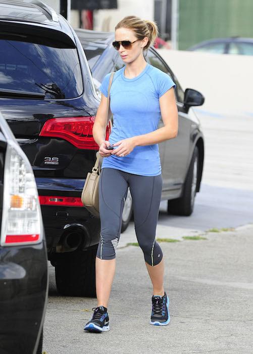 Emily Ratajkowski after a workout