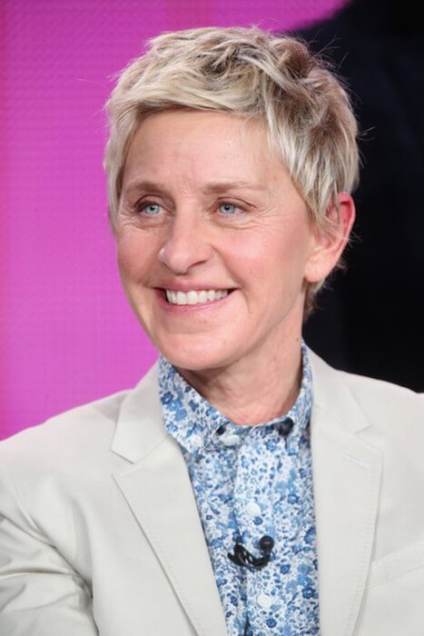 Ellen DeGeneres appears during the 'One Big Happy' panel discussion at the Langham Hotel on January 16, 2015 in Pasadena, California